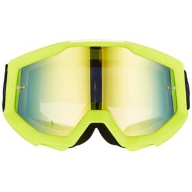 100% Strata Goggle neon yellow-mirror